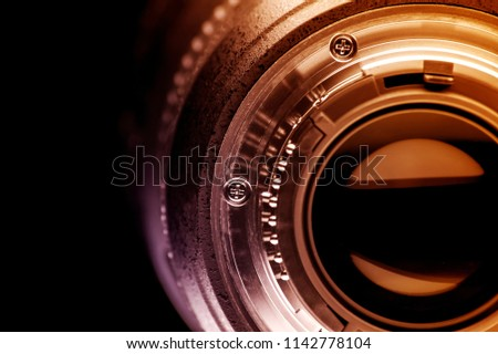 fragment of the camera lens #1142778104