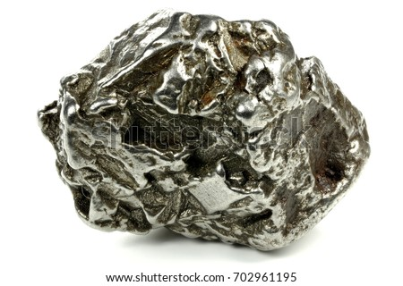 Shutterstock fragment of the Campo del Cielo meteorite isolated on white background