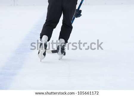 Fragment of the ice hockey game #105661172