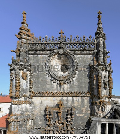 Fragment of the Monastery of Christ the order of the knights Templar in Tomar, Portugal