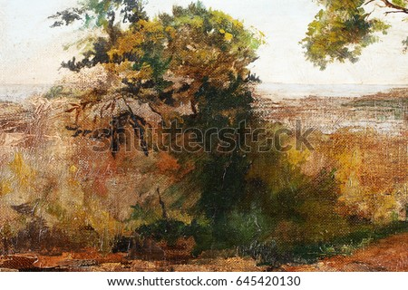 Fragment of the picture. Tree