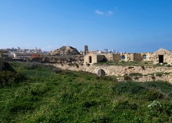 Fragment photos and ruins of Fort Ricasoli which was built by the Order of Saint John between 1670 and 1698,situated in Kalkara, Malta. It is the largest fort in Malta.Public open place for people