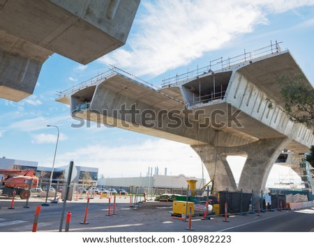 fragment  view  of the road under reconstruction stock photo