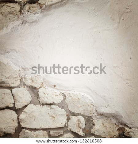 Fragmented stone wall texture