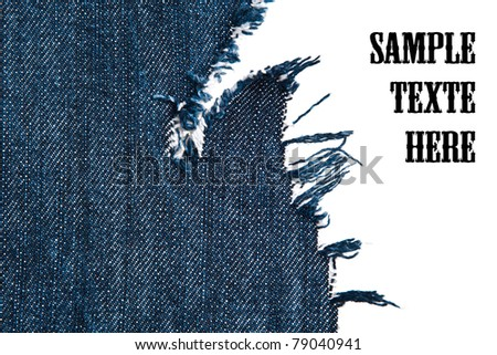 fragments of jeans, denim cloth close-up - stock photo