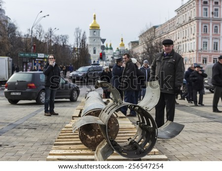 Fragments of the missile BM-30 \