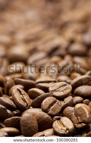 Fragrant fried coffee beans a-smoke...