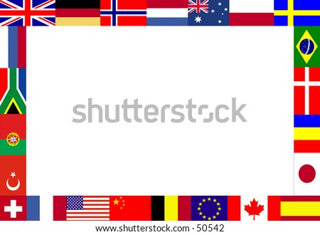 Frame, composed of multiple flags