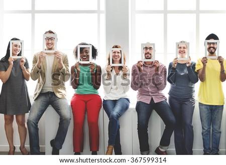 Frame Face Communication Colleagues Corporate Concept