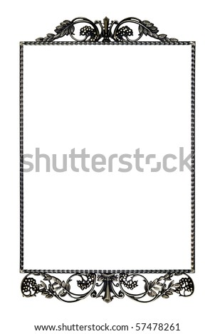 Frame for a mirror isolated on a white background