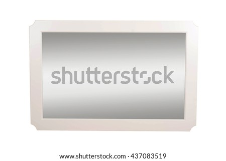 frame for a mirror on a white background #437083519