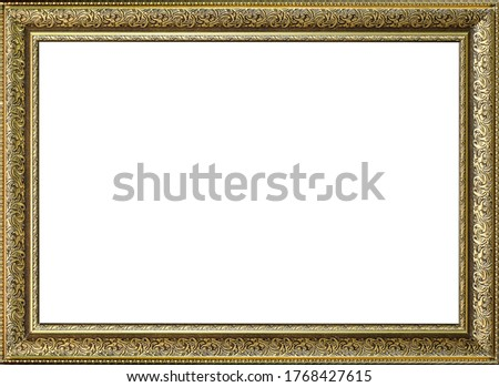 Frame for a picture on a white background Foto stock ©