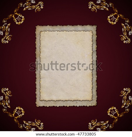Frame for photos in the old style
