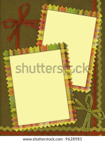 frame for two photos in scrapbook style