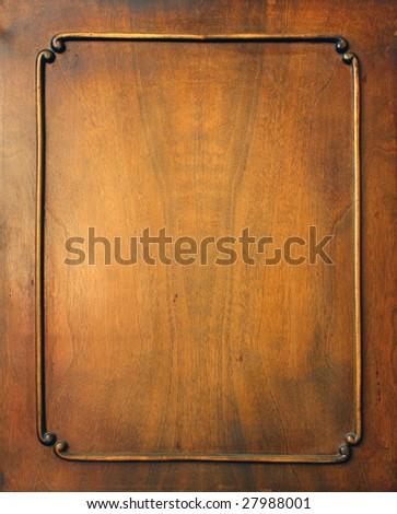 Frame. Fragment of door of old furniture