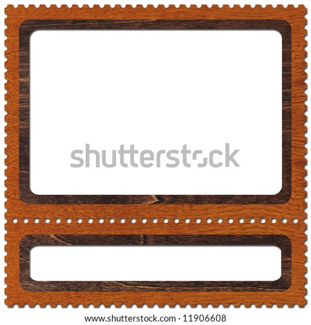 Frame look like postage-stamp - stock photo