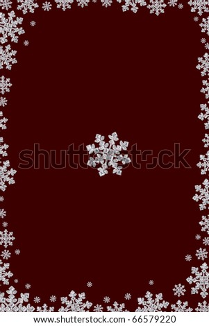 Frame made from diamond snowflake