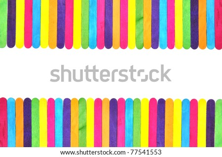 frame made of colorful ice cream bar