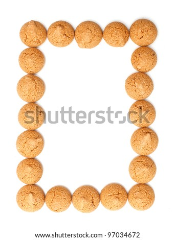 frame made of traditional italian almond cookies - amaretti