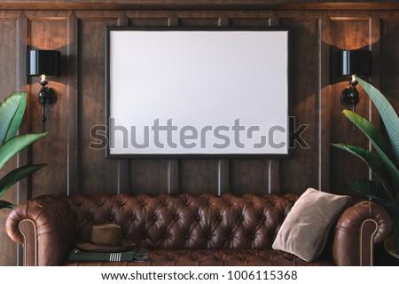 Frame mockup in interior