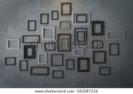 Frame mounted to the wall