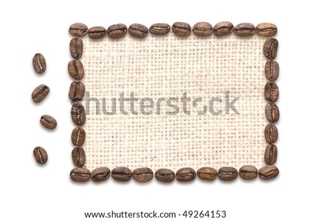 Frame of coffee bean