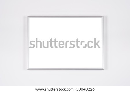 Frame of format ?4 on a grey background a shade on each side.