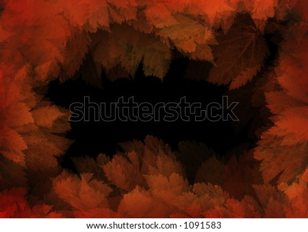Frame of leaves. High resolution!