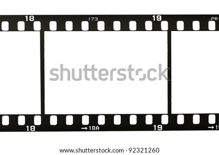 frame of 35 mm film strip, isolated on white