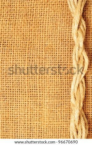 frame of ropes  on sack
