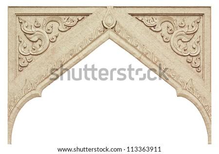 Frame of Thai ancient art