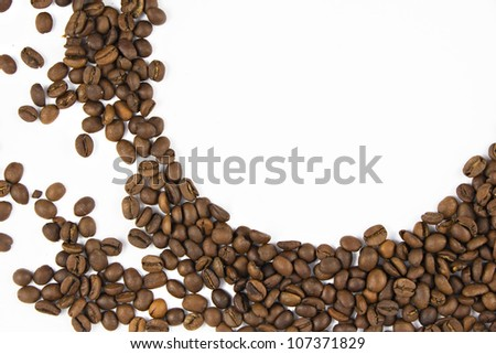 frame of the coffee beans