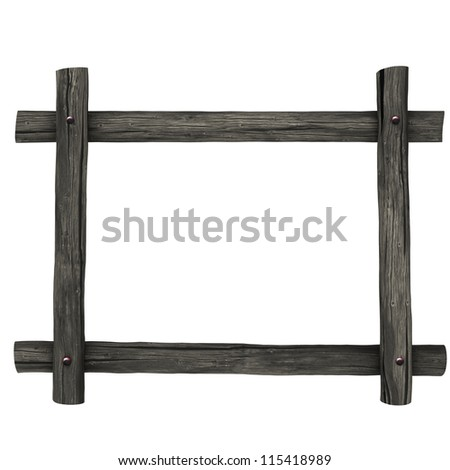 Frame of wooden boards. Isolated on white, with clipping path.