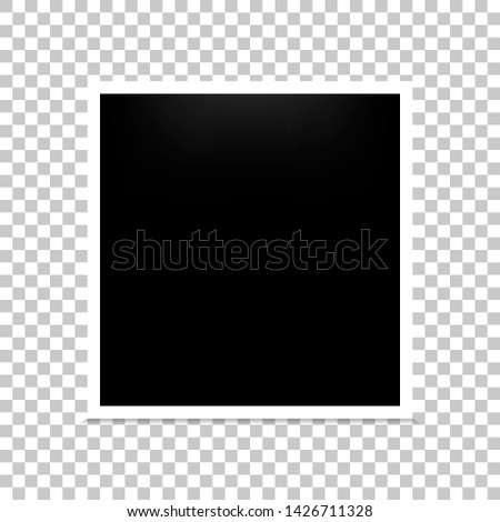 Frame photo realistic blank isolated background