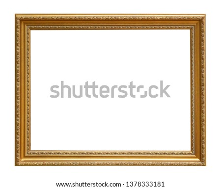 Frame picture antique antiques isolated on white background