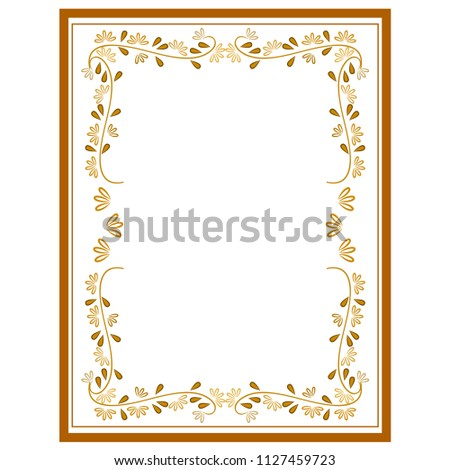 Frame rectangle of twig card. Fashion graphic background. Modern stylish abstract texture. Colorful template for prints, textiles, wrapping, wallpaper. Design element. illustration