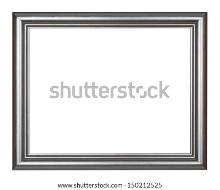 Frame - silver picture frame, isolated on white