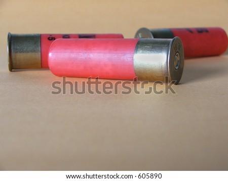 Frame: three 12 gauge shotgun shells