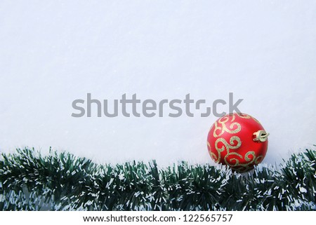 frame with a toy in the snow