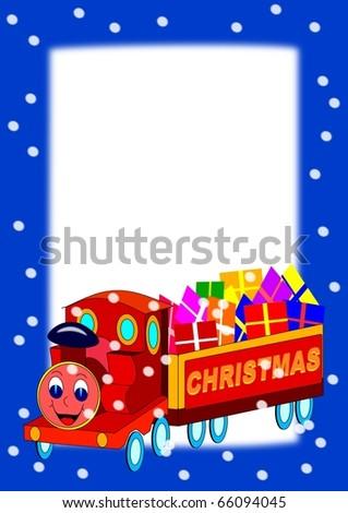 Frame with Christmas Train
