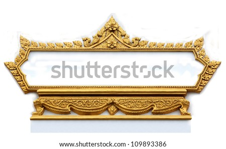 Frame with Thai art wall pattern in thailand Temple