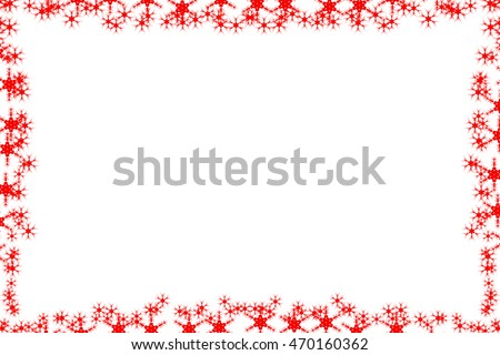 frame with the motif of snow, snowflakes and winter #470160362