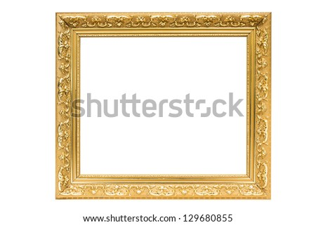 Frame wood is isolated for picture