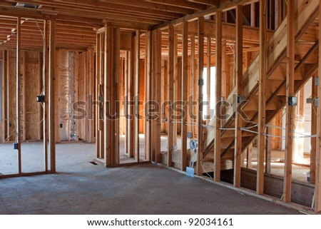 Basic Electrical Wiring on Framed Building Or Residential Home With Basic Electrical Wiring And