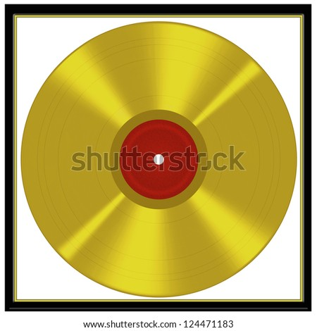 Framed gold disc - music award style