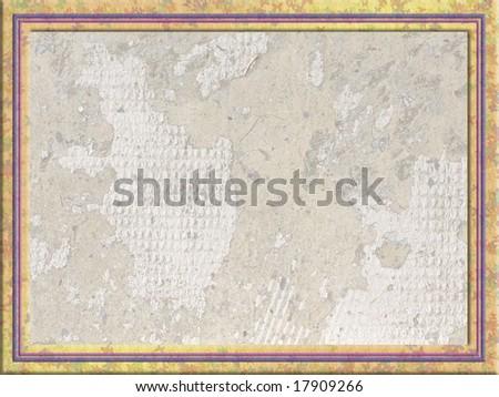 Framed textured background.