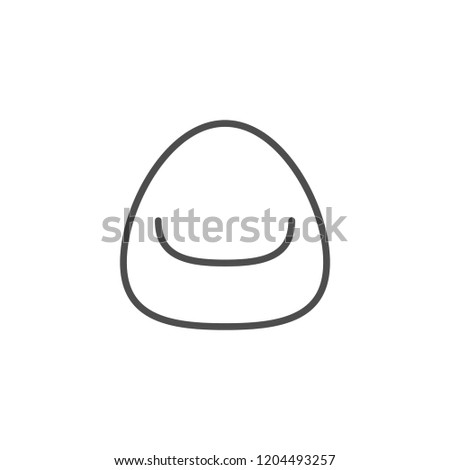 Frameless armchair line icon isolated on white