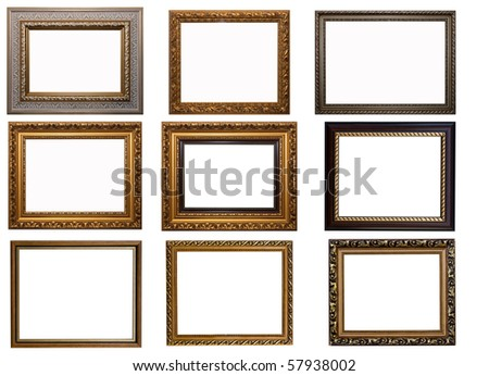 Frames of Baget isolated on white