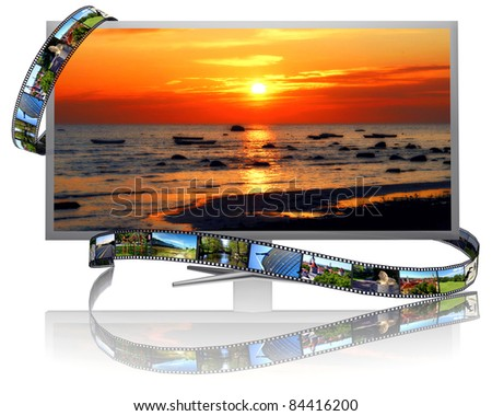 Frames of film and lcd display
