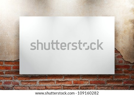 frames on on old grunge brick wall